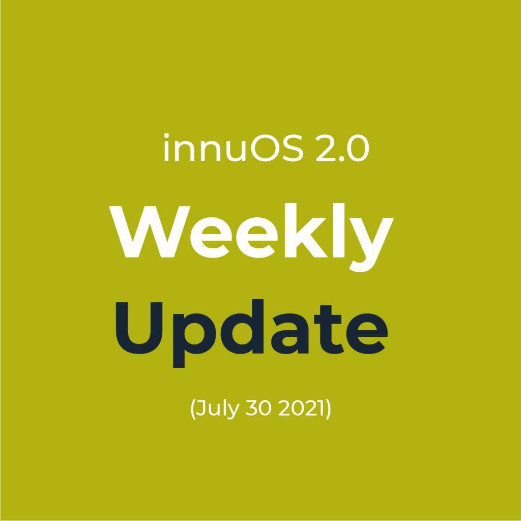 Weekly Update (July 30 2021)